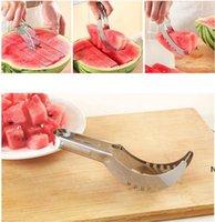 Aço Inoxidável Melancia Slicer Cortador Melão Cutter Cutter Corer Scoop Frutas Ferramentas de Cozinha Gadgets DHE6603