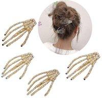 Clipes de cabelo Barrettes 1 PCS Skull Handpin Hairpin Gripper Fantasma Esqueleto Cabeleirar Cabeludo Acessórios