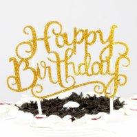 Party Dekor Kristall Strass Glänzend Happy Birthday Cake Topper Jubiläum Kinder Geburtstage Kuchen TOPPERS SN5258