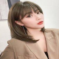 Perruque casque féminine xin zhailei longue réduction de l'âge modélisation de cheveux vrais cheveux naturels net perruque rouge