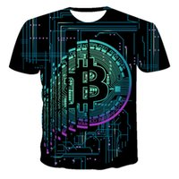 2021 new summer loose short sleeve sports mens t shirt large round neck bitcoin 3d printing fashion casual breathable fitness m