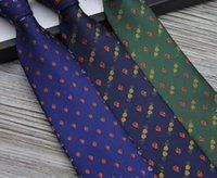 Tíbito de los hombres de seda de alta calidad 7.5cm versión estrecha Versión de negocios Ocio de hombre Marca de la marca Versión estrecha Versión original Caja de embalaje