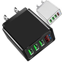 Universal LED Display 3A High Speed Eu US Wall Charger 3 Ports Power Adapter For Iphone Samsung Tablet PC Android phone