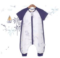 Baby Sleeping Bag Primavera estate coperta indossabile con gambe per borse da sacco a maniche lunghe a maniche corte borse per bambini a cucitura per bambini