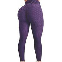 تشكيل سيدة رفع طماق الاتجاه الرياضة أزياء المرأة اللياقة البدنية عالية الخصر اليوغا السراويل المضادة السيلوليت pantalon taille haute 03