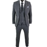 Gray 3 Pieces Men Wedding Tuxedos Winter Warm Wool Groom Pants Suits Party Prom Jacket Business Wear Outfit traje hombre