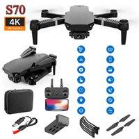 S70 pro Smart Smart Télécommande Derniers Drones UAV Haute Définition Haute Définition Caméra double Caméra à quatre axes Mini E58