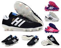 2021 코파 70Y FG 축구 축구 신발 정도 21 PRIMETKNIT 블랙 / 화이트 / 핑크 70 년 제한 에디션 망 부츠 클리트 크기 39-45