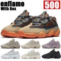 Con scatola enflame 500 Riflettente scarpe da corsa in morbida Vision Pietra Bone Bianco Utility Black Moon Giallo Blush Sale Sale Uomo Donne Sneakers Mens Trainer