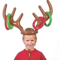 200ピース面白いトナカイアンタリングトスクリスマスホリデーパーティーゲーム用品おもちゃの子供たち子供たちのクリスマスのおもちゃギフトFY3224