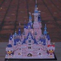 toySuitable for Princess Castle Building Block girl series adult high difficulty LEGO toys pink dream Disney three-dimensionalfidget