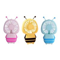 Electric Fans USB Rechargeable Little Bee Mini Fan Handheld Portable Outdoor Sports Hanging Neck