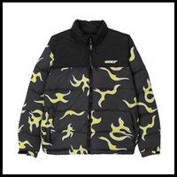 New luxury Men Black golf Flower Le Fleur Tyler The Creator Blue flame Coats & Jackets   Down Cotton warm Winter #M44