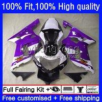 Motorcycle Body For SUZUKI GSXR 1000CC 1000 CC Injection Mold Bodywork 24No.130 GSXR-1000 00-02 GSXR1000 Purple white K2 00 01 02 GSX-R1000 2000 2001 2002 OEM Fairing