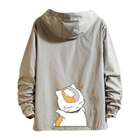Women's Jackets Basic female jacket will see thin print casual cat zipper light hoodie coat wear men's clothes FWKF