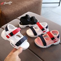 Sandals 2021 Children's Summer Boys Leather Baby Flat Children Beach Shoes Kids Sports Soft Non-slip Casual Toddler