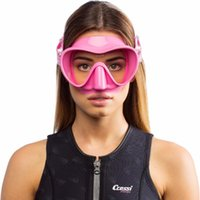 Cressi F1 Frameless 스쿠버 다이빙 마스크 강화 유리 단일 렌즈 원 창가 낮은 볼륨 스노클링 수영