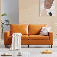 أثاث غرفة نوم أوراسر. أريكة موردن نمط بو الجلود المنجد 3 مقعد الأريكة والوفزين