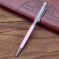 أقلام حبر جاف هدية الكتابة diy أنبوب فارغ المعادن ملء الذاتي بريق المجففة زهرة الكريستال القلم 27 اللون 303 r2 wah7