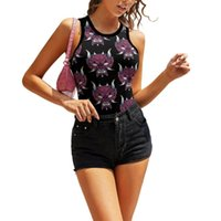 Women's Tanks & Camis Japanese Hannya Mask Tank Top Casual Street Style Blank Camisole Suspender Night Out Crop