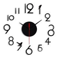 Wall Clocks Horloge 3d Diy Acrylic Mirror Stickers For Living Room Quartz Needle Home Decoration