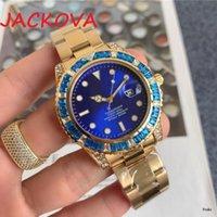 Высококачественные моды мужские женщины часы ледяные роли хип-хоп алмазные часы мужские серебряные стальные мужские кварцевые наручные часы Relogio Masculino