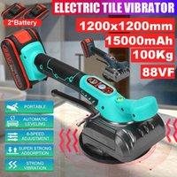 Vibratore di piastrelle elettriche a pavimento automatico posa piastrellatura strumento di manutenzione macchina da muro di mattoni + set di utensili da 15000mAh batteria