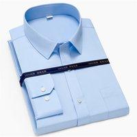Лучшие 100% хлопок социальный формальный с длинным рукавом бизнес офис тонкий подходящий платье рубашки для мужчин Paolo SiRum бренд 210322