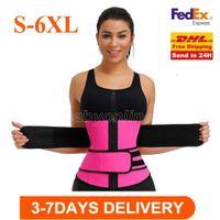 US STOCK 1 Pcs Men Women Shapers Waist Trainer Belt Corset Belly Slimming Shapewear Adjustable Waist Support Body Shapers FY8084