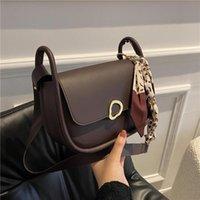Evening Bags Women Bag Retro Saddle Silk Scarf Fashion Female Shoulder Crossbody Messenger Luxury Designer Handbag Clutch