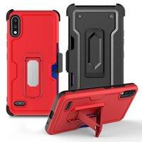 Caixas de cinto de cinto de suporte de suporte de carro para LG K22 K92 5G K52 Styo 7 6 K51 K31 Harmony 4 Kickstand Cover
