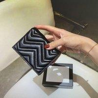 466492 ماركونت محفظة بطاقة حالة أعلى جودة المرأة عملة محفظة الحقيبة مبطن الجلود مصغرة محافظ قصيرة حامل الائتمان حامل