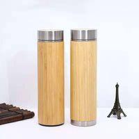 Garrafas de água Bambu vácuo flask copo