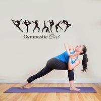 Gymnastics Girl Wall Sticker Sport PVC Art Decals Art Kids Room Decor Black