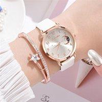 Designer Luxus Marke Uhren Frauen Mode Weiße Quarz Leder Damen Zeugt Simple Number Dial Woman Clock Montre Femme