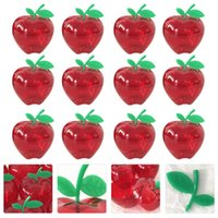 12pcs Xmas Candy Bottle Transparent Box Transparent Desktop Decor (Red) Regalo