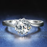 Moissanite 1 Karat زوجين الدائري الرجال والنساء زوج واحد مفتوحة الماس الدائري خاتم الزفاف لصديقة عيد الحب هدية تصميم الأزياء