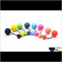 Novo Hot Acrylic Candy Color Belly Nave Anel Body Piercing Jóias Grind Buttonring Bar Bar Anéis 3C5AH 0ZVZJ