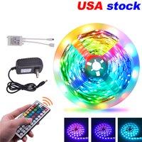 VS stock RGB LED-strips 16.4ft 32.8ft 5050 Striplichten 150Leds 300leds met 44-toetsene afstandsbediening
