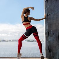 Yoga Outfits Workout Clothes For Women 2 Piece Set Sports Bra And Leggings Wear Gym Clothing Athletic Striped