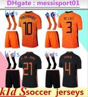 Kinder 2021/22 Holland Memphis de Jong Fussball Jersey Ligt Niederlande Strootman van dijk 2022 Kinder Kit Fußball Hemd