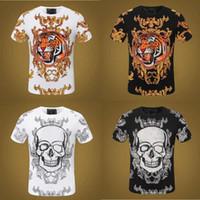 21ss Polo Shirts Crystal Skull Skull SHIRTS Básico Sólido Moda Punk Hoodies Imprimir Letra Tee Skateboard Dollar Casual M-3XL