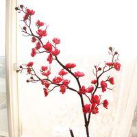 장식 꽃 화환 인공 실크 매화 벚꽃 사쿠라 나뭇 가지 홈 테이블 거실 장식 DIY 결혼식 장식