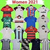 2021 2022 Femmes Soccer Jerseys Gremio Mineiro Recife Santos Flamengo Cruzeiro Vasco Da Gama Palmeiras Bahia Corinthian Football Shirt Filles Accueil S-XL
