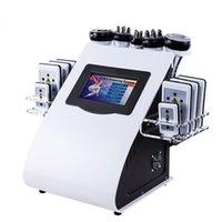 Professionnel 6 en 1 40k minceur Liposuccion de cavitation ultrasonique 8 coussinets Lipolaser Aspirateur RF SHOW SHORY Sculptant Machine en vente