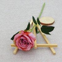 روز الحرير زهرة الورود الاصطناعية مع سيقان طويلة ل diy باقات الزفاف المركزية الزفاف دش حزب ديكور المنزل GGA4340