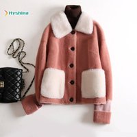 Women Natural Sheep Shearling Coat Female Short Section Youn...