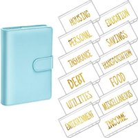 Gift Wrap A6 PU Binder Planner Budget Organizer Round Ring Cover Magnetic Personal With 12 Pocket