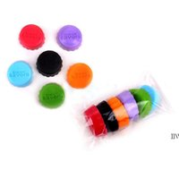 Silicone Beer Caps Drinkware Lid Reusable Wine Bottle Lids Cap Cover Saver for Kitchen Barware 6pcs set AHF6740