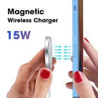 Magsafing Wireless Charger 15W Qi Magnetic Chargers For 12 Pro Max Mini 11 Fast Charging Pad Stand Mount Mac Safe Cell Phone Mounts & Holder